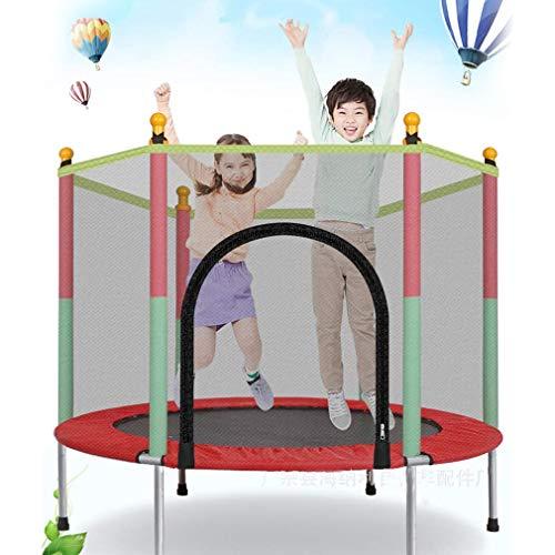 Trampolino Sportivo Trampolino da Giardino per Bambini, Trampolino Fitness Trampolino da Interno per Bambini Trampolino da Giardino Rotondo per Esterni Set Completo con Rete di Sicurezza