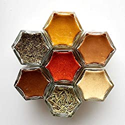 Organice Spices in decorative jars with magnetic lids - click to see it on Amazon