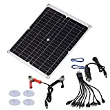 RANNYY Panel Solar, Kit de Cargador de batería Solar portátil de Panel de celda Solar de 20 W y 18 V para Suministros de Carga de Barco de Coche al Aire Libre