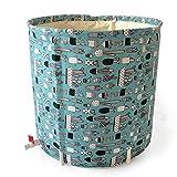 Ryyland-Home Barril de baño Plegable Adultos Plástico Espesado extraíble no Inflable Patrón Bañera Baño Cactus Barril Bañera portátil (Color : Green, Size : 65x70cm)