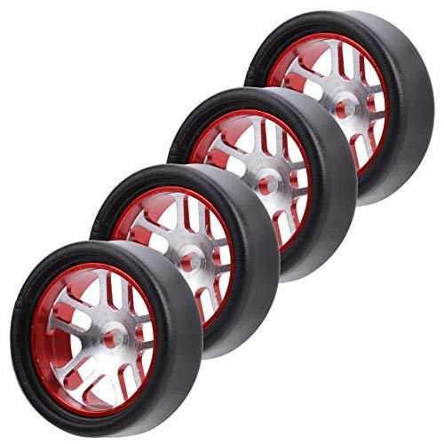 SALUTUYA Neumático de Coche teledirigido Duradero RC Neumático 20x8mm Recambios, para vehículo K969 teledirigido 1/28(Red)