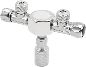 uxcell Silver Tone Metal 2 Way Splitter Regulator Valve for Aquarium Plant CO2 Tank