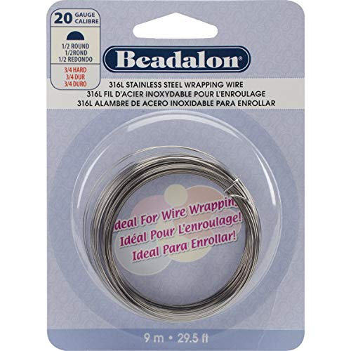 Stainless Steel Wrapping Wire-Half-Round - 20 Gauge, 9m