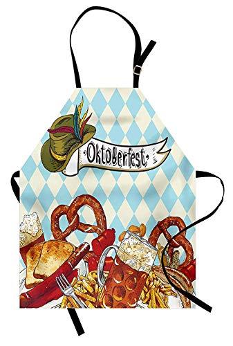Schürze Mann Schürze Damen Schürze Brot Brezel Karneval Party Deutschland Kostüm Fröhliches Festival Frauen Kinder Kochen Backen Küche Lätzchen-66X80Cm