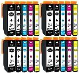 20 cartuchos de tinta XL con chip e indicador de llenado para Epson Expression Premium XP-510, XP-520, XP-600, XP-605, XP-610, XP-615, XP-620, XP-625, XP-700, XP-710, XP-720, XP-800, XP-810 y XP-820
