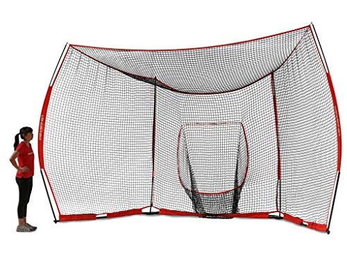 PowerNet Portable Baseball Backstop | Large 16 Foot Wide by 9 Foot High Fully Collapsible Easy to Transport | Portable...