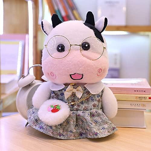 KXCAQ 30 cm Lindo Juguete de Peluche de Vaca Relleno Suave Animal Lindo Almohada de Felpa muñeca Lindo bebé niños Regalos de cumpleaños 18