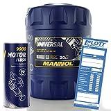 MANNOL 20L mn7405–20Universal 15W-50de 40motorenöl API SG/CD Aceite + Gratis Motor Limpiador Acondicionador Motor Limpiador