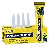 Emorroidi Crema di Trattamento, Crema per il trattamento delle emorroidi, Veloce sicuro efficace Emorroidari Sintomo Relief, Azione lubrificante, Rinfrescante, Protettiva e Calmante