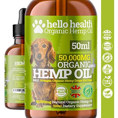 DOG HEMP OIL   High Strength Natural Organic Hemp Oil Drops For Dogs & Cats   Pet Supplement   Omega 3,6,9   Made In UK