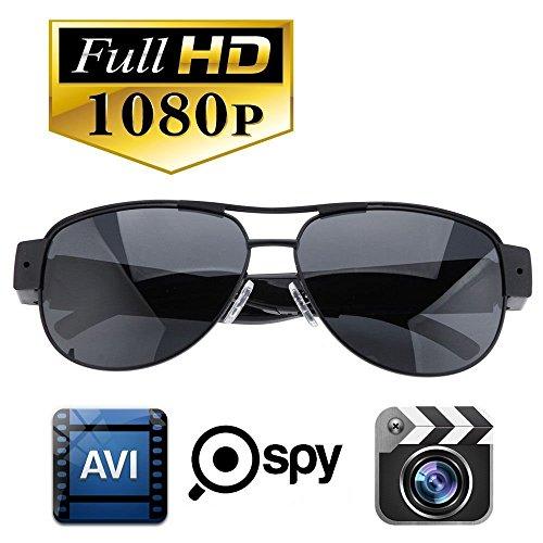 FiveSky - Gafas de sol con cámara oculta (1080p, HD, cámara oculta, DV, DV)