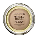 Max Factor Miracle Touch, Fondotinta Coprente con Acido Ialuronico, 080 Bronze, 12 ml