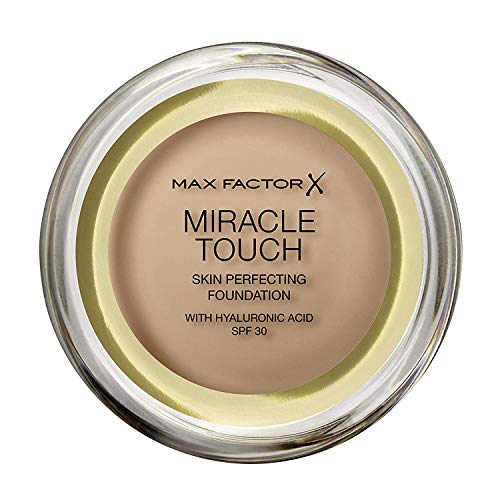 Max Factor Miracle Touch, Fondotinta Coprente con Acido Ialuronico, 080 Bronze, 12 ml