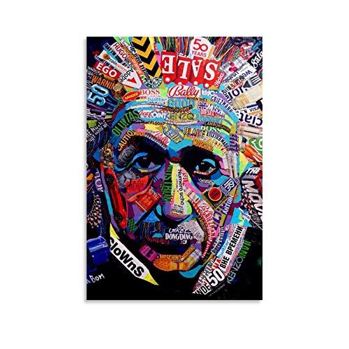 YHYHYH Póster teórico de Albert-Einstein, cuadro decorativo para pared o sala de estar, dormitorio, 20 x 30 cm