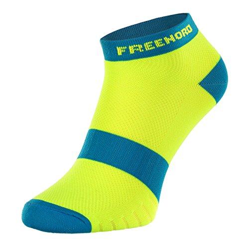 Freenord Dynamic Run Funktionssocken 1 Paar Radsport Running Fitness Cycling (grün/blau, 43-46)