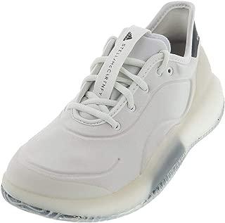 adidas Women`s Stella McCartney Court Boost Tennis Shoes White and Legend Blue ()