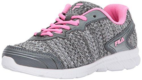 Fila Women's Memory Perpetual FT Running Shoe, Castlerock/Sugarplum/White, 9 Medium US