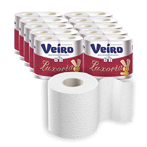 40 Rollen Toilettenpapier WC Papier Klopapier 3-lagig, 155 Blatt pro Rolle, Großpackung, weiß (4 x 10 x 155 Blätter)