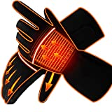 Men Women Heated Gloves Rechargeable Electric Battery Heat Gloves Kit