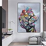 wZUN Cool Street Art Impreso Lienzo Pintura Graffiti Mano Pared Carteles e Impresiones decoración del hogar Arte de la Pared imágenes 40x55 cm
