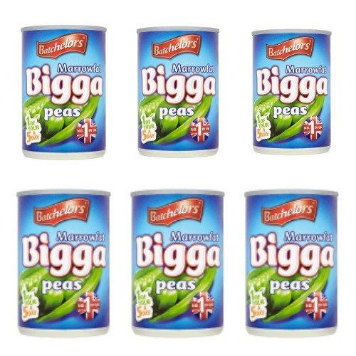 Bundle of 6 Batchelors Marrowfat Bigga Peas 300g x 6 Tins Delivers 3 - 5 Days USA