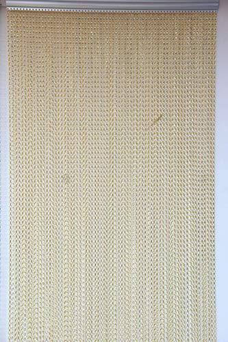 SZIVYSHI Remasuri Aluminium Metall Kette Vorhang Bildschirm Fly Insektenschutz-Rollos Pest Control Vorhang – 10 Jahre Garantie (Gold, 90 x 214.5 cm)