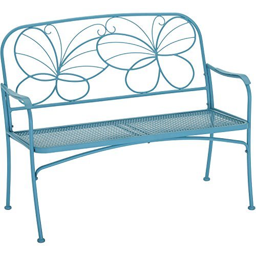 Mainstays* Butterfly Outdoor Patio Bench (Blue)