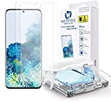 Galaxy S20 Screen Protector [Dome Glass] Full HD Clear 3D Curved Edge Tempered Glass [Better Solution for Ultrasonic Fingerprint] Installation Tray by Whitestone - Two Pack