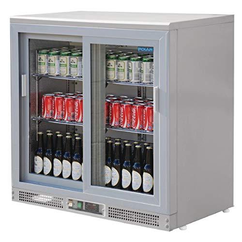 Vitrina botellera Polar gris metalizado 180 botellas