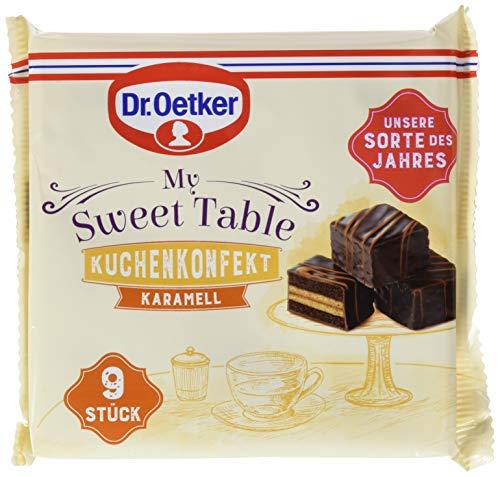 Dr.Oetker My Sweet Table Kuchenkonfekt Karamell – feines Kuchenkonfekt mit Karamell- und Schokorührkuchen-Schichten und Schokolade überzogen 6er Pack (6 x 135g)