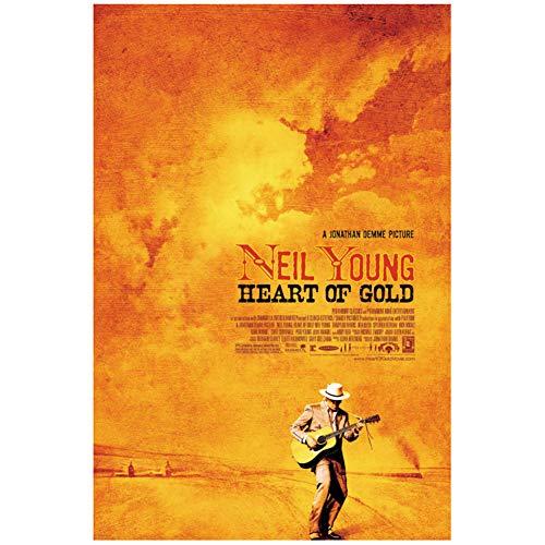 chtshjdtb Neil Young Heof Gold 2006 Filmklassiker Neil Young Poster LW Leinwand Kunstdruck Dekoration -20X30 Zoll No Frame 1 Pcs