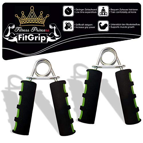 Fitness Prince© FitGrip 2er Set Handtrainer ideal zur Stärkung der Handmuskulatur/Fingerhantel,Unterarmtrainer Griffkraft Trainingsgerät Armtrainer Fingertrainer