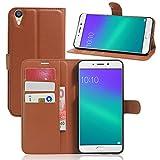 Litao-Case CN Hülle für Oppo R9 Plus hülle Flip Leder + TPU Silikon Fixierh Schutzhülle Case 8