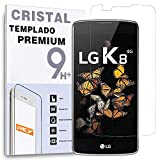 REY Protector de Pantalla para LG K8 Cristal Vidrio Templado Premium