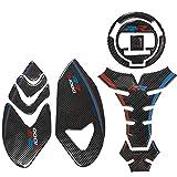 Protector para el Tanque Etiqueta Engomada Del Tanque De Combustible 3D De La Motocicleta Para B-M-W S1000RR S 1000 RR Calcomanías De Resina De Fibra De Carbono Protección Cubierta Del Tanque Almohadi