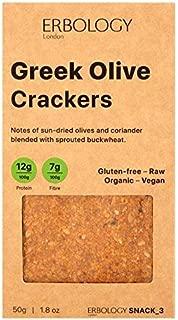 Erbology Organic Gluten Free Greek Olive Crackers - 50g (0.11 lbs)