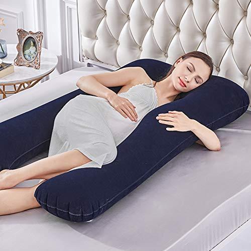 Yongqin Almofada de gravidez, corpo inteiro em forma de U e suporte de maternidade, suporte para costas/pescoço/cabeça para mulheres grávidas