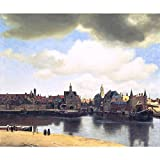 N / A Famous Oil Painting Delft Scenery Print Art Poster Wall Painting Living Room Decoration Painting On Canvas Frameless 60X70cm