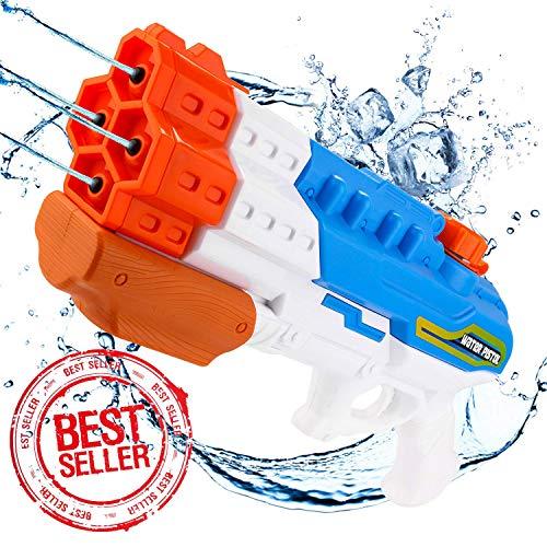 Sunshine smile wasserpistole groß,wasserpistole mit großer reichweite,wasserpistole spielzeug,wassergewehr für erwachsene kinder,water gun,water blaster,wasserpistole für garten und strand