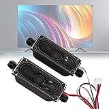 Annadue TV-Lautsprecher, 4 Ohm 5W-Lautsprecher 2-teiliger TV-Box-Lautsprecher für LCD-TV-Geräte,...