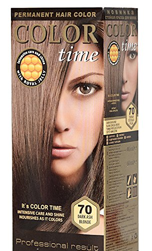 Color Time Haarfarbe Permanent, mit Gelée royale, 70 Dunkelesche Blondine