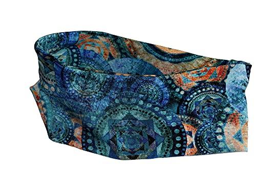Breites Baumwoll-JERSEY Haarband 'Mandala' aus der Nähwerkstatt brittameier
