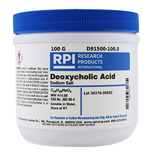 RPI Sodium Deoxycholate, Powder, 100 Grams, Lysis Buffer, for Research Labs