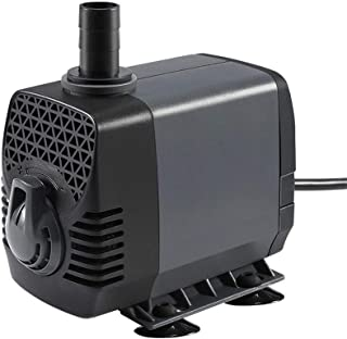 Ankway Upgraded 210GPH(787L/H, 15W) Submersible Water Pump Humanized Rotation Switch with 2 Nozzles for Pond, Aquarium, Fish Tank Fountain Water Pump Hydroponics, with 5.9ft (1.8M) Power Cord
