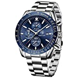 BENYAR Cuarzo cronógrafo Impermeable Relojes Business Casual Deporte Acero Inoxidable de Reloj de...