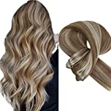 Sunny Hair Bundle Blonde Ombre Real Human Hair 16 Inch Double Weft Sew in Hair Weft Extensions Silky Straight Hair Weave 100g