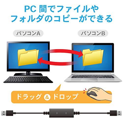 『エレコム データ移行ケーブル [ Windows Mac対応 ] USB2.0 Type-Cアダプタ付属 1.5m ブラック UC-TV5XBK』の5枚目の画像