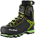 Salewa Men's VULTUR Vertical GTX-M High Rise Hiking Shoes, Black/Cactus, 10 US