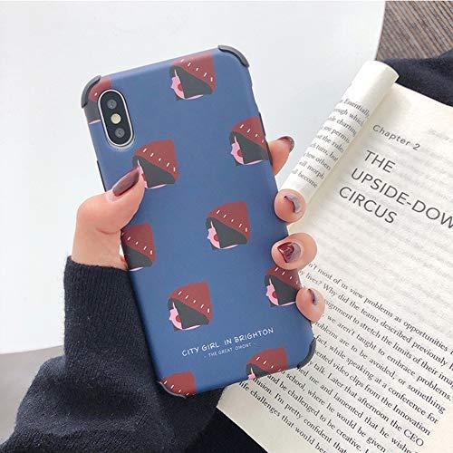 YALTOL pour iPhone XS Max, XR, XS/X, 7/8,7 / 8plus, 6 / 6s, 6 / 6splus personnalité Mode créatif TPU Blue Girl Manchon de Protection de téléphone Portable Shell Chute,XR