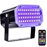 AUSHEN 48 Leds Halloween Strobe Light, Mini Portable Powerful Party Light Sound Activated Flash Stage Light Speed Control for Indoor Dance Disco DJ Parties Christmas Club Wedding Show